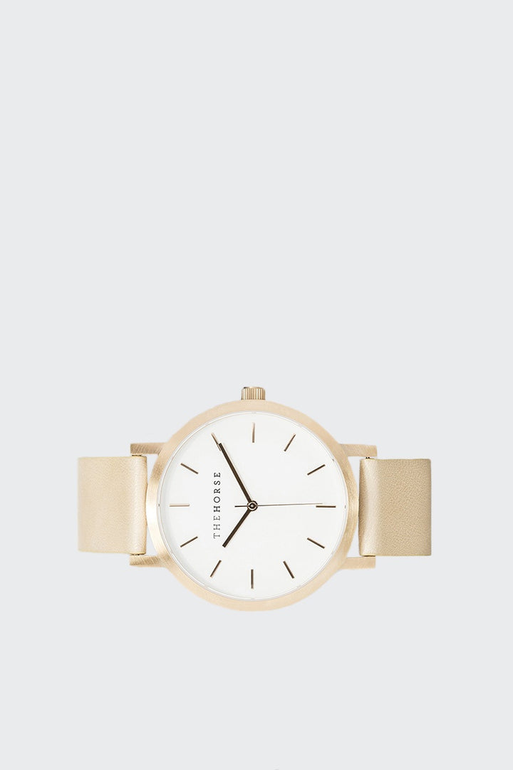 The Horse Original Watch - brushed rose gold/vegetable tan | GOOD AS GOLD | NZ