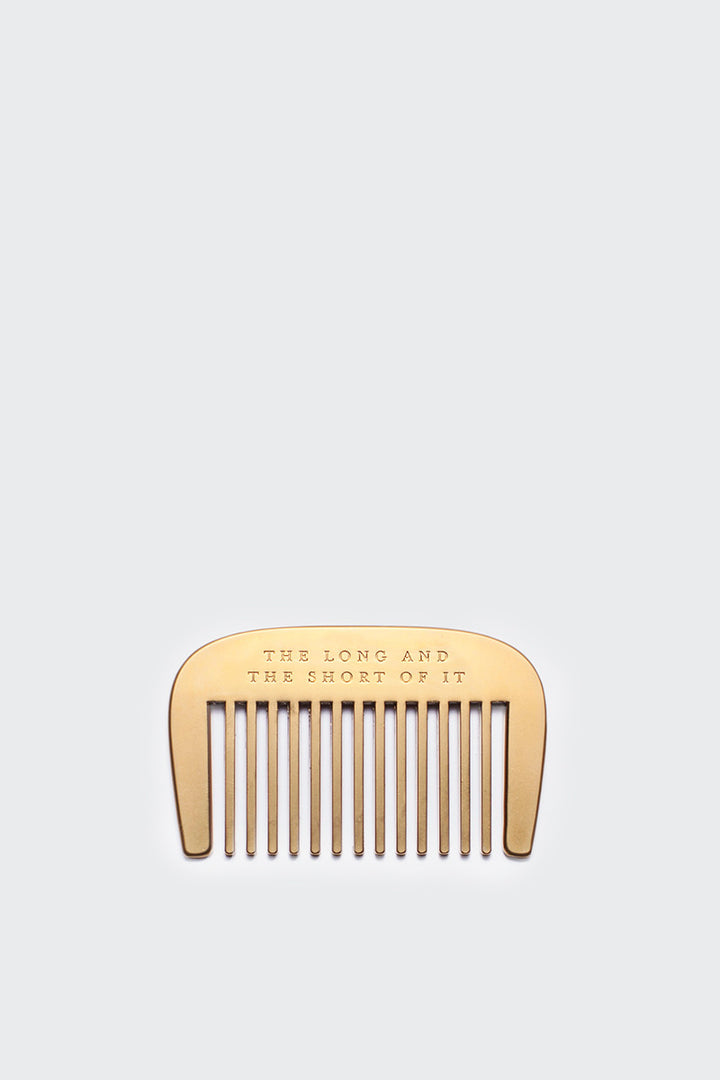 Izola The Long & Short Of It Beard Comb | GOOD AS GOLD | NZ