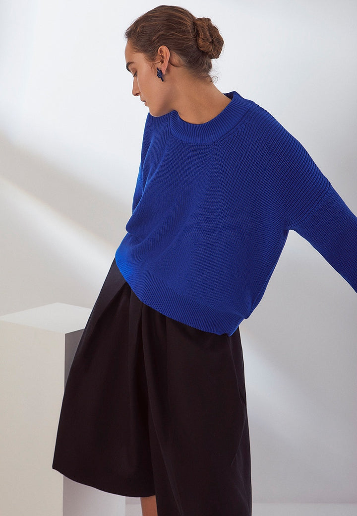 Kowtow | Workroom Jumper - Cobalt | Good As Gold, NZ