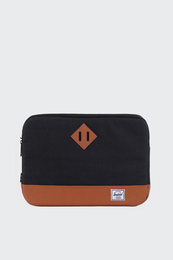 Herschel Supply Co. Heritage Sleeve 13inch Macbook - black/tan | GOOD AS GOLD | NZ