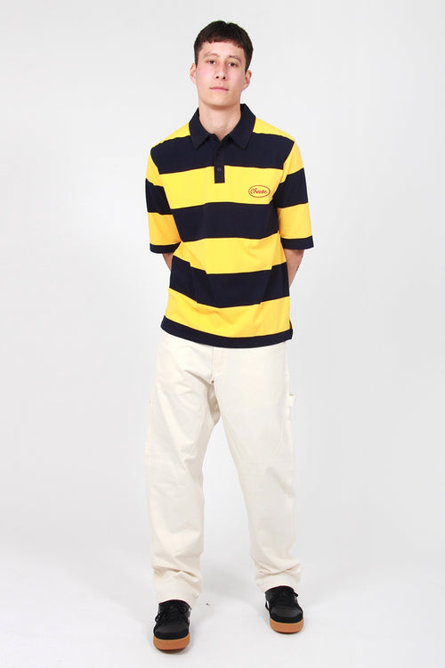 Stripy Cheese Polo Shirt - yellow