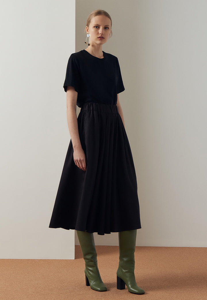 Kowtow Writer Skirt - black — Good as Gold
