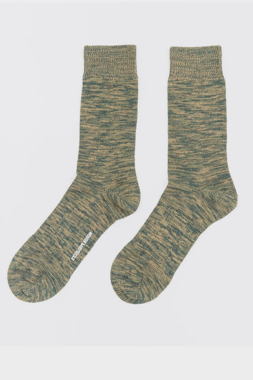 Norse Projects Bjarki Blend Socks - quartz green - Good As Gold