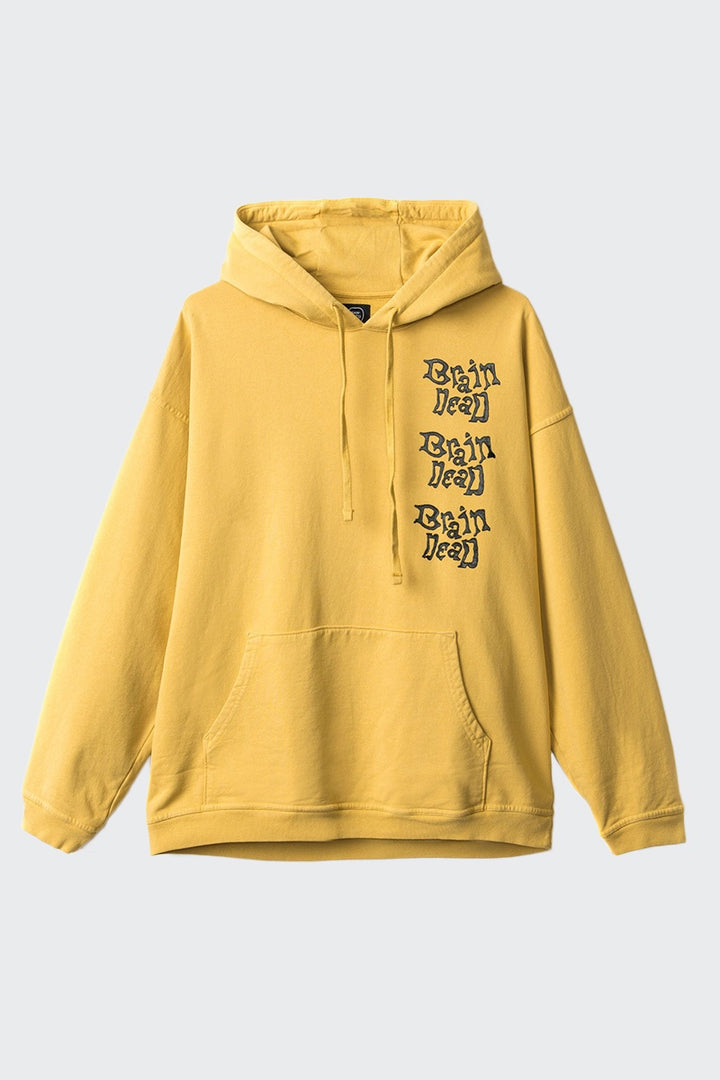Brain Dead Missle Command Hoodie - mustard | GOOD AS GOLD | NZ