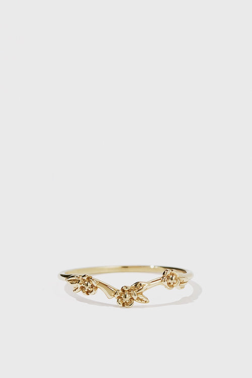 Alba Band Ring - gold