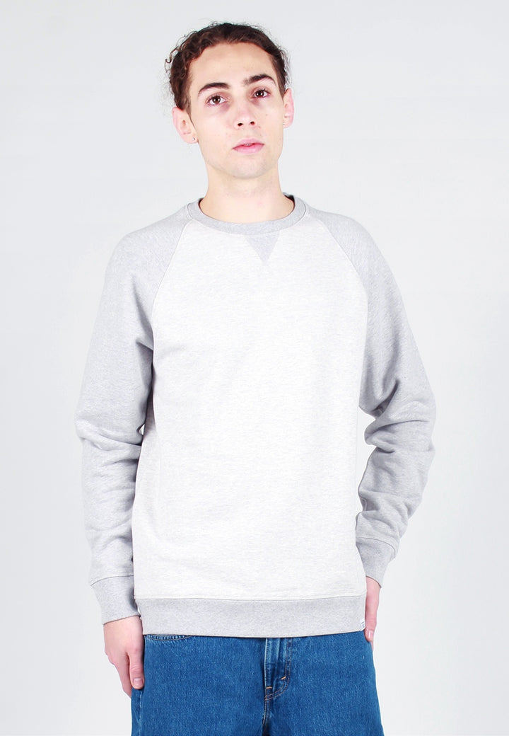 Norse Projects Ketel Contrast Sweater - light grey melange - Good As Gold