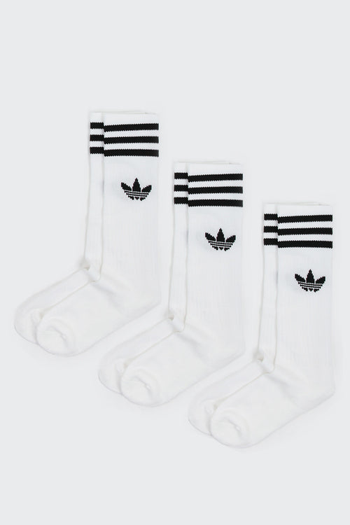 Adidas Originals Solid Crew Sock 3 Pack - white | GOOD AS GOLD | NZ