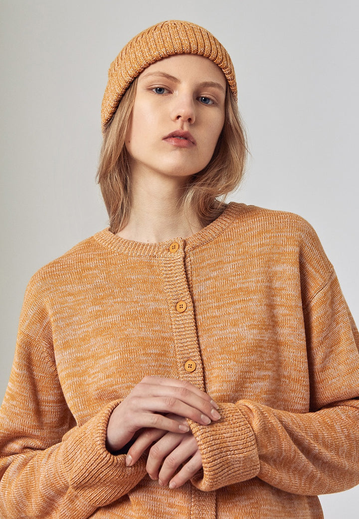 Kowtow Horizon Beanie - amber melange - Good As Gold