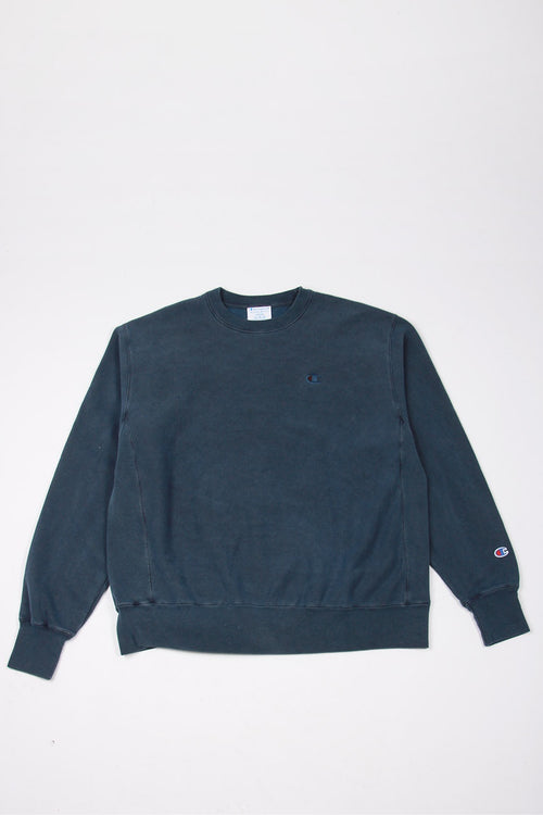 Champion PD Reverse Weave Crew - indigo batik blue | GOOD AS GOLD | NZ