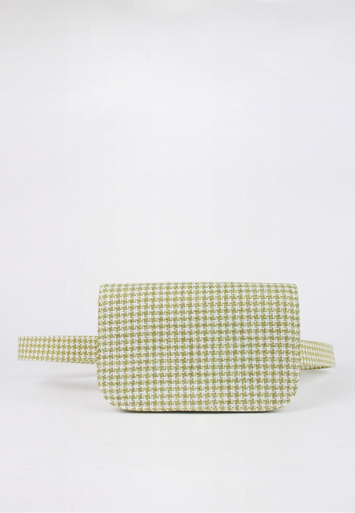 Jaggar Belt Bag - sage houndstooth - Good As Gold