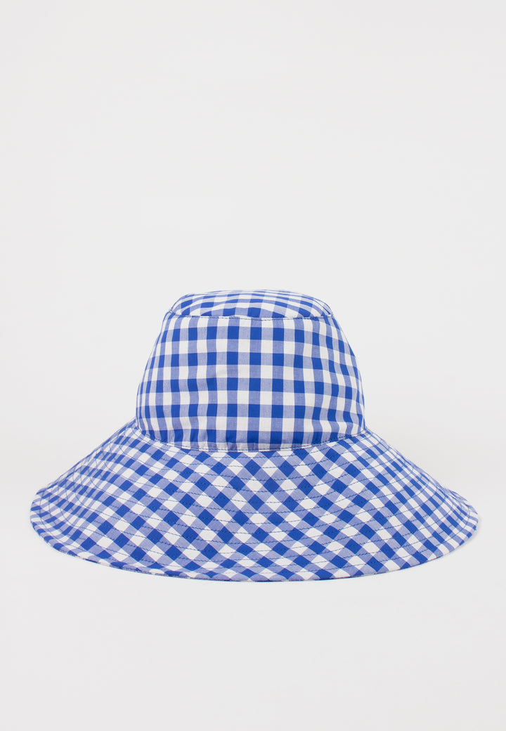 Slowlane | Niki Bucket Hat - blue gingham | Good As Gold, NZ