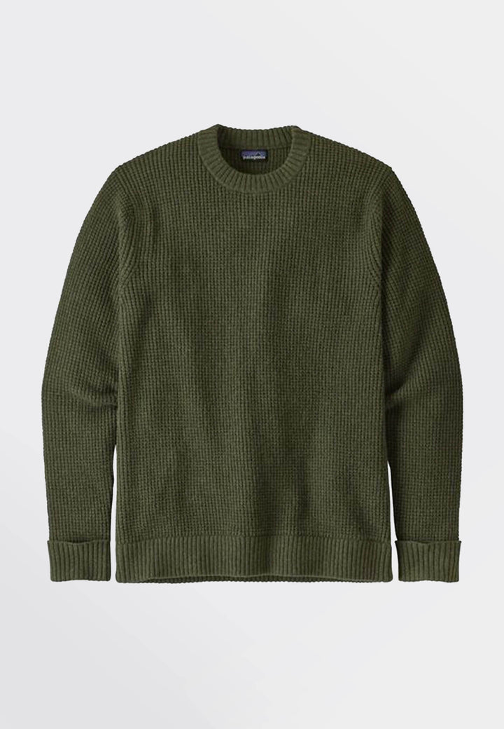 Recycled Wool Sweater - alder green