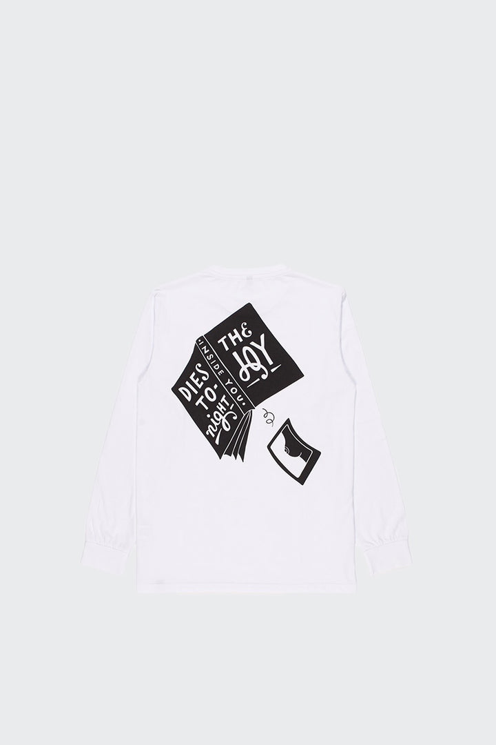 Parra The Joy Inside Long Sleeve T-Shirt - white | GOOD AS GOLD | NZ