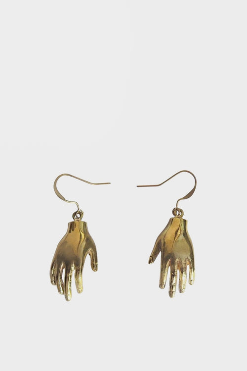 WOS Hello Earrings - brass — Good as Gold