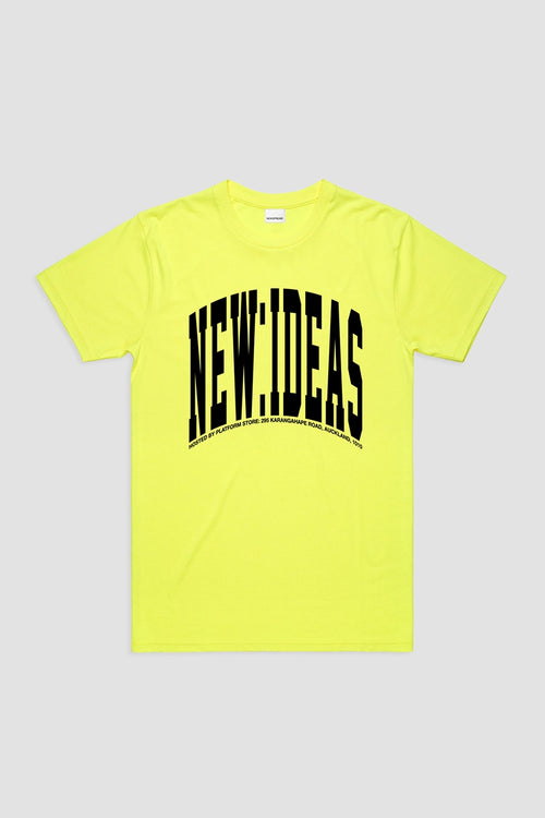 Newspread Bright Ideas T-Shirt - neon