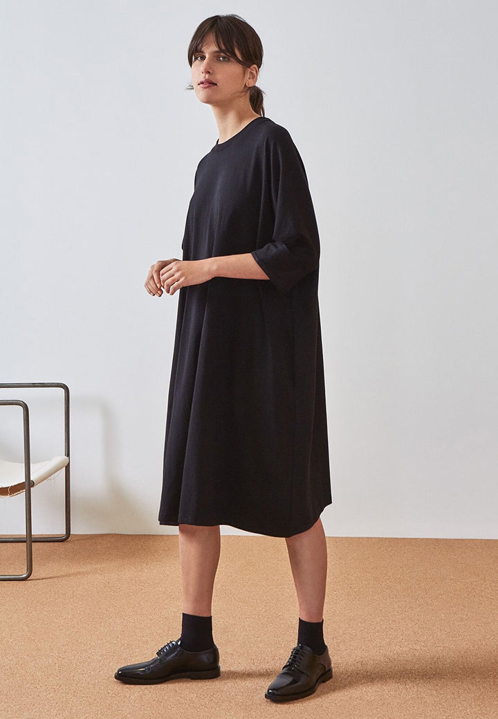 Kowtow Building Block Oversized Boxy Dress - black - Good As Gold