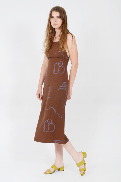 Lava Dress - brown