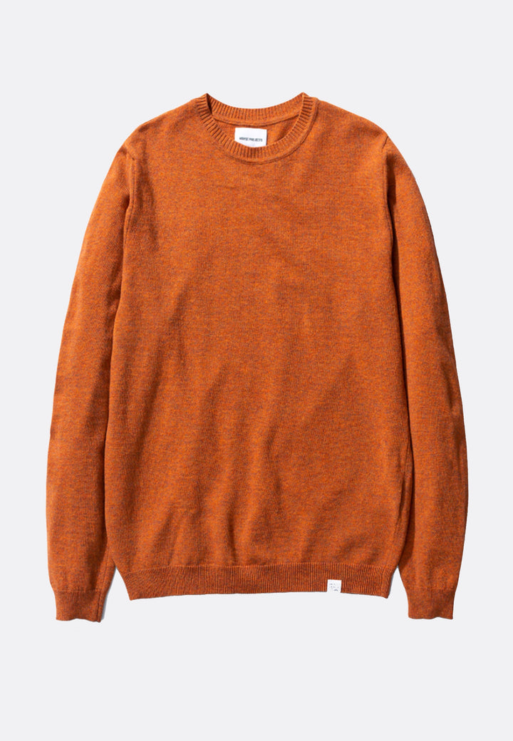 Sigfred Light Wool Sweater - cadmium orange