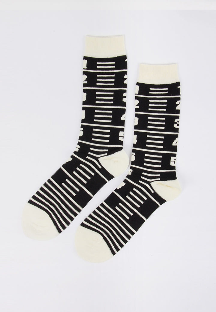 Measuretape Socks - black tape