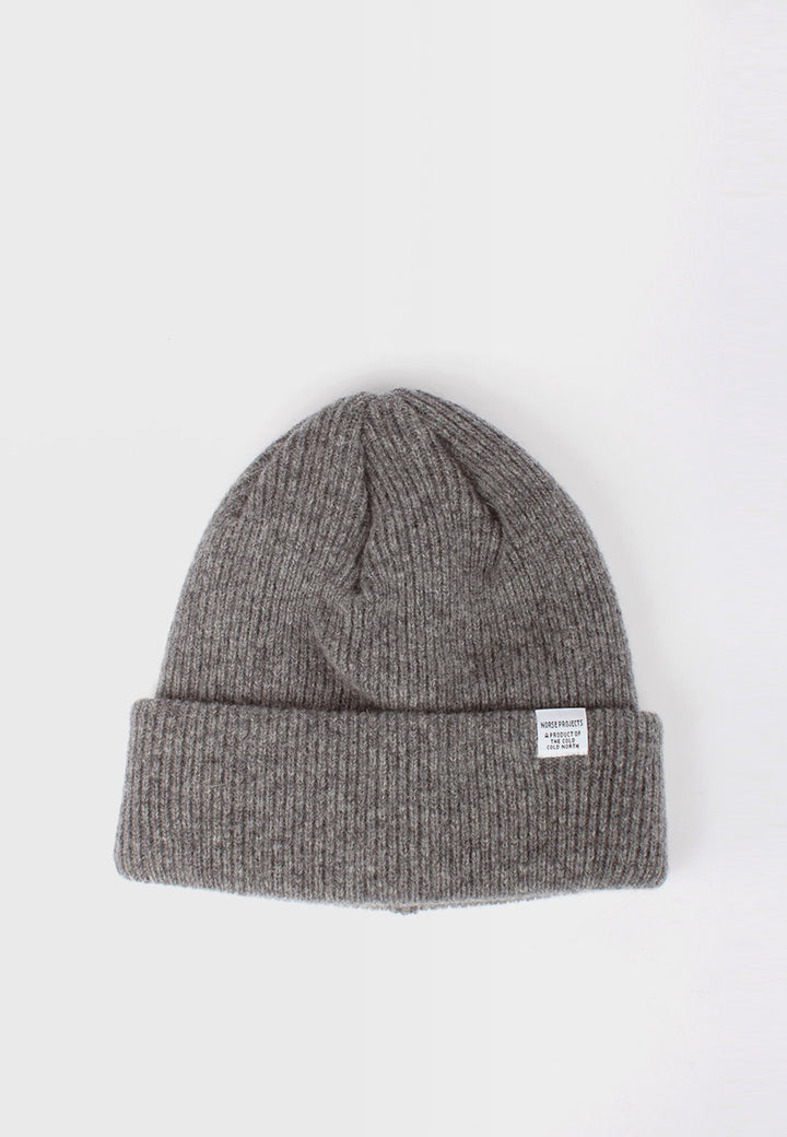 Norse Projects Norse Beanie - light grey melange - Good As Gold