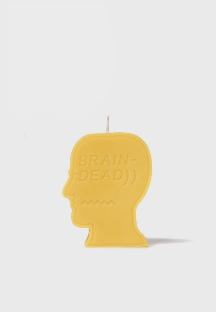 Brain Dead | Logo Candle - yellow | Good As Gold, NZ
