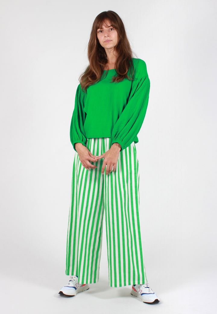 L.F.Markey Billy Stripe Pant - green - Good As Gold
