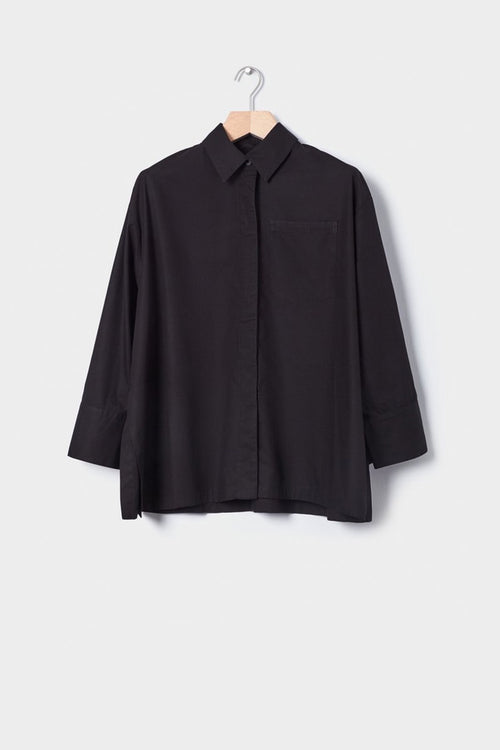 Kowtow Lines Shirt - black