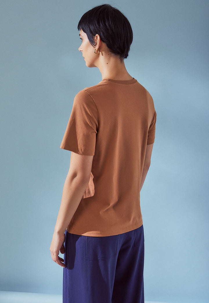 Kowtow | Building Block Classic Tee - clay | Good As Gold, NZ