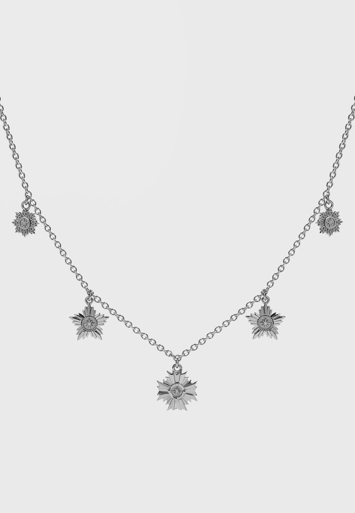 Meadowlark Maiden Necklace - silver