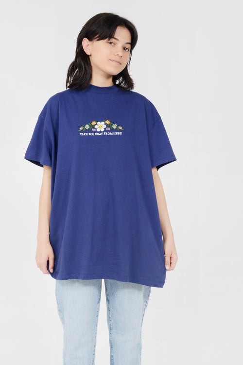 Lazy Oaf Take Me Away T-Shirt - blue - Good As Gold