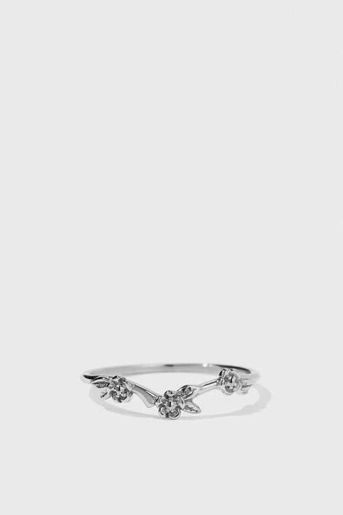 Alba Band Ring - silver