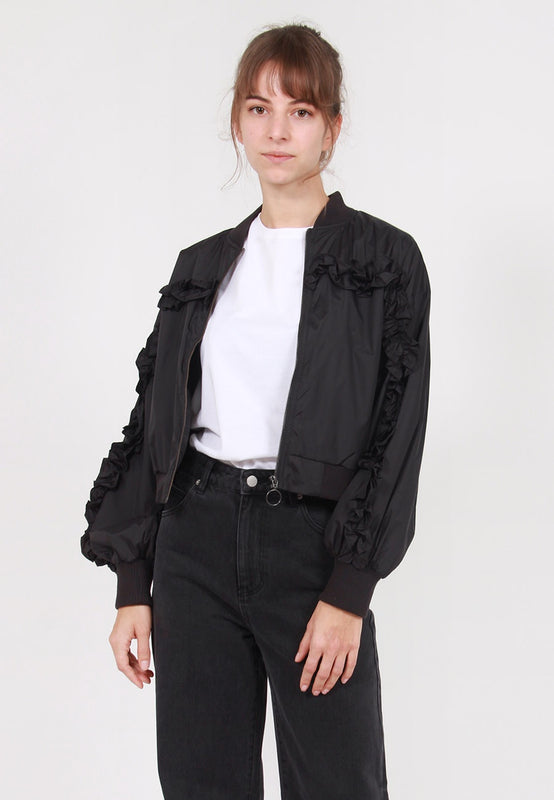 The Fifth Womens Interleague Bomber Jacket - black – Good as Gold NZ