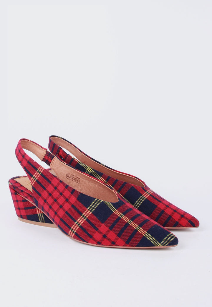Jaggar Aim Slingback - rose plaid - Good As Gold