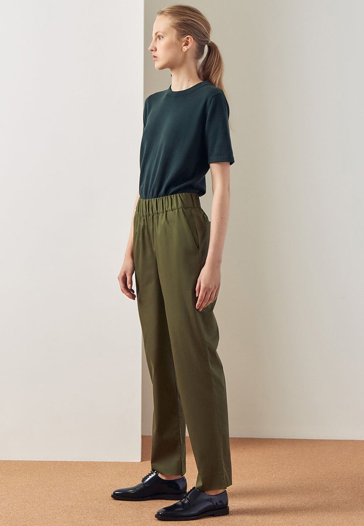Kowtow Script Pant - moss — Good as Gold