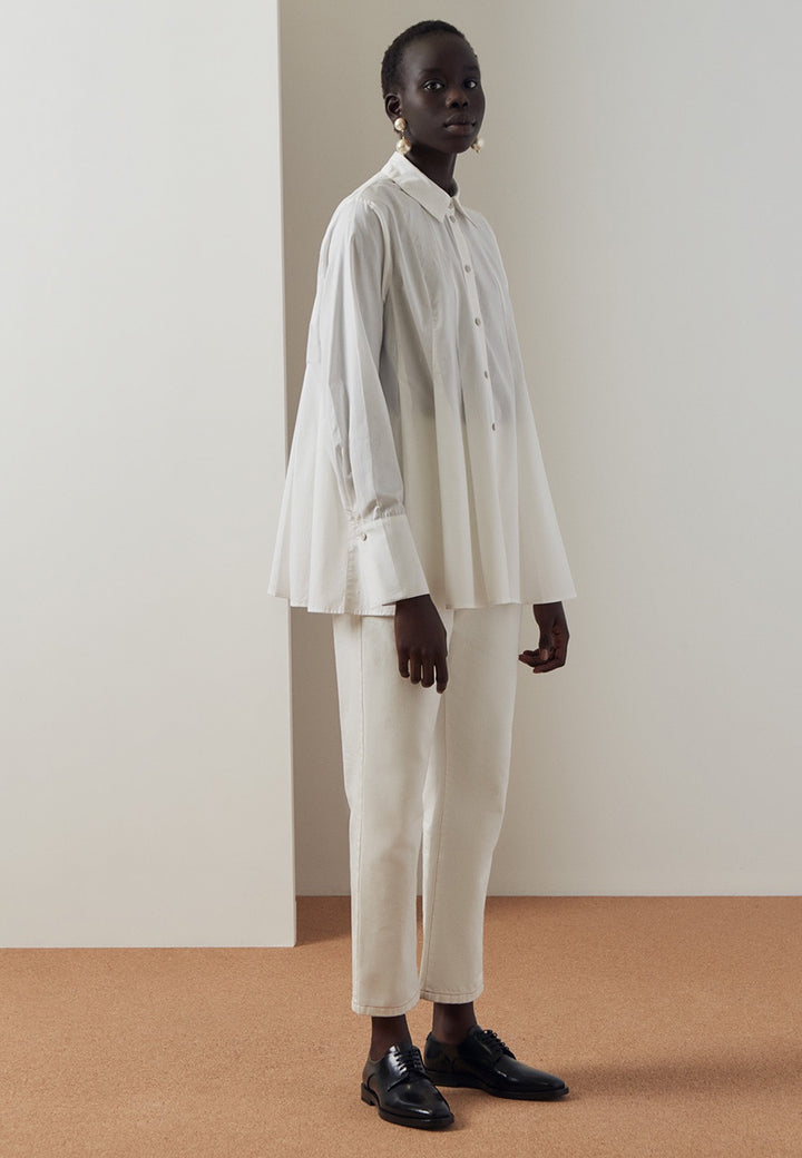 Kowtow Pages Shirt - white — Good as Gold