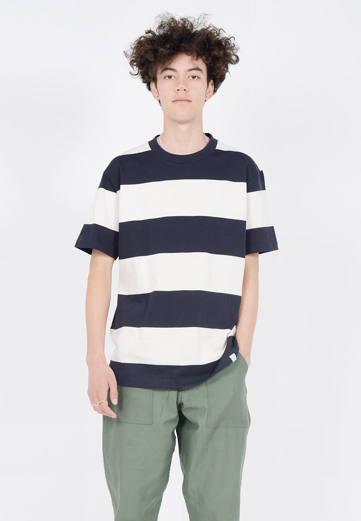 Norse Projects Johannes Border T-Shirt - dark navy - Good As Gold
