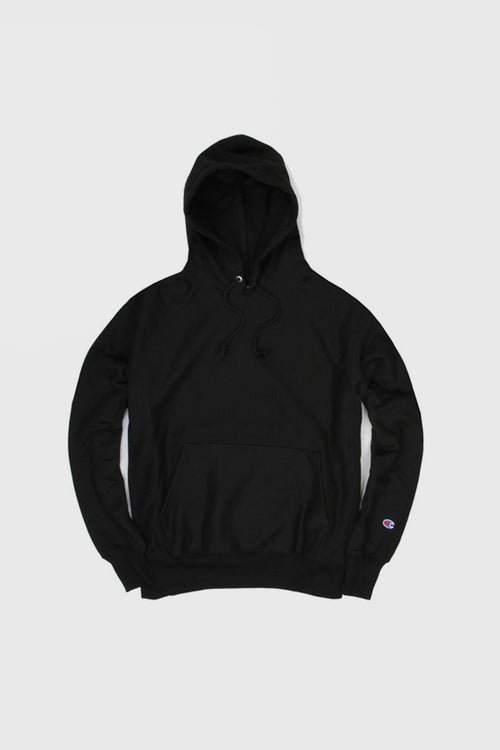 Champion Blank Reverse Weave Hoodie - black – Good as Gold