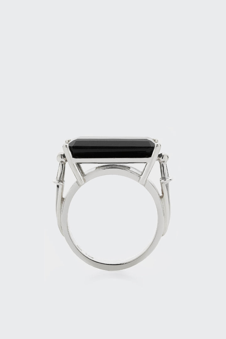 Meadowlark Dagger Cocktail Ring - silver/onyx | GOOD AS GOLD | NZ