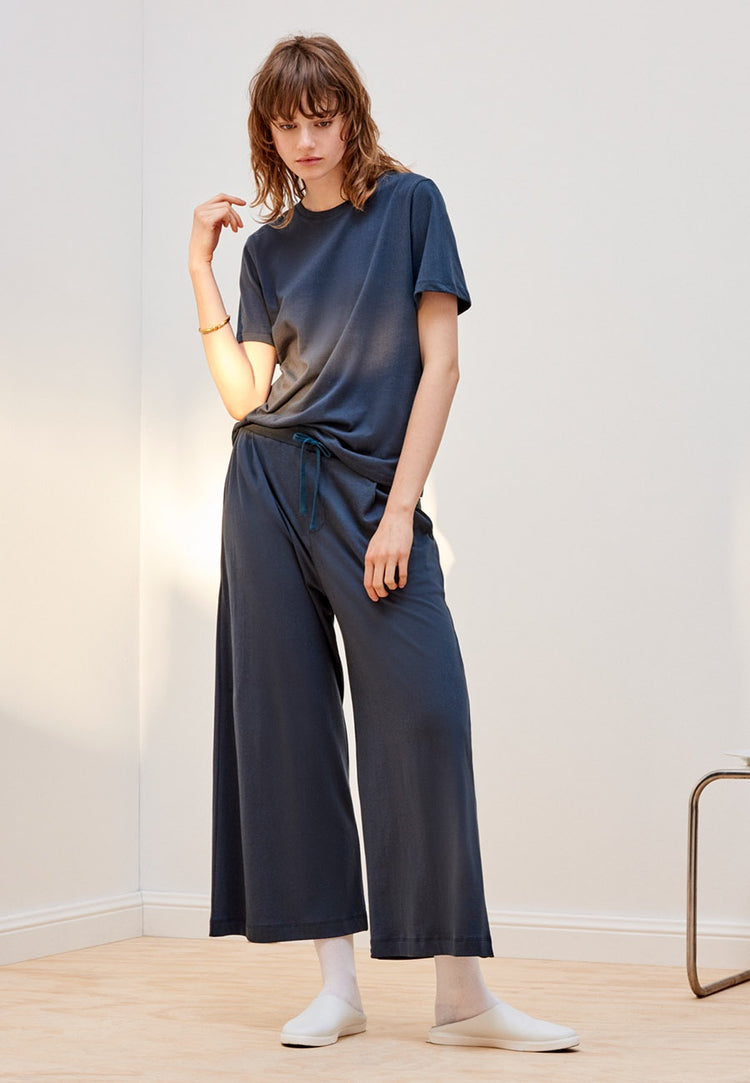 Kowtow Building Block Wide leg Pants - dark teal | GOOD AS GOLD | NZ