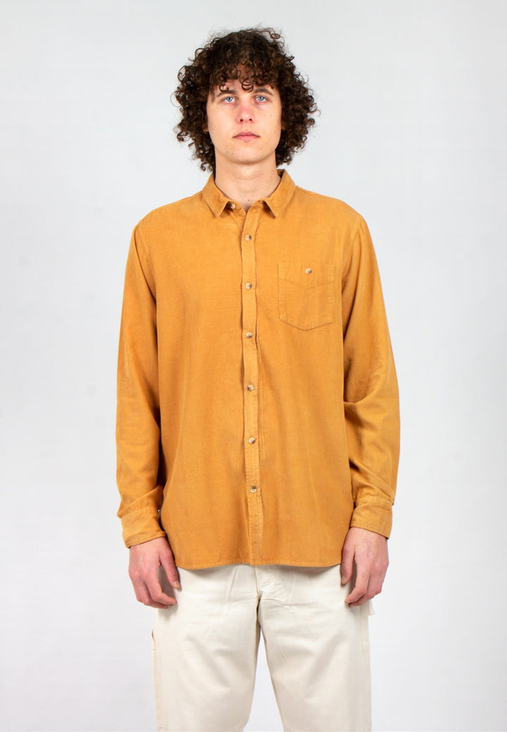 Rollas | Men At Work Cord Shirt - tan | Good As Gold, NZ