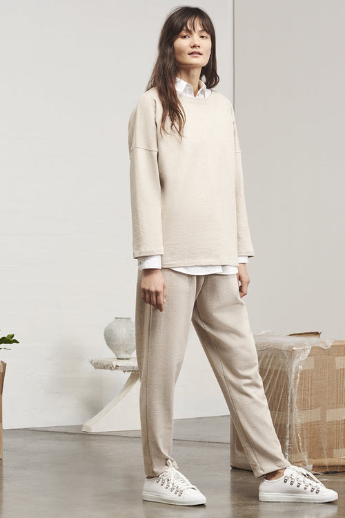 Kowtow Building Block Lightweight Sweater - natural marle | GOOD AS GOLD | NZ