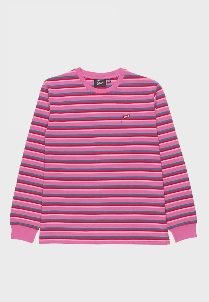 Parra | Flapping Flag Long Sleeve T-Shirt - pink | Good As Gold, NZ
