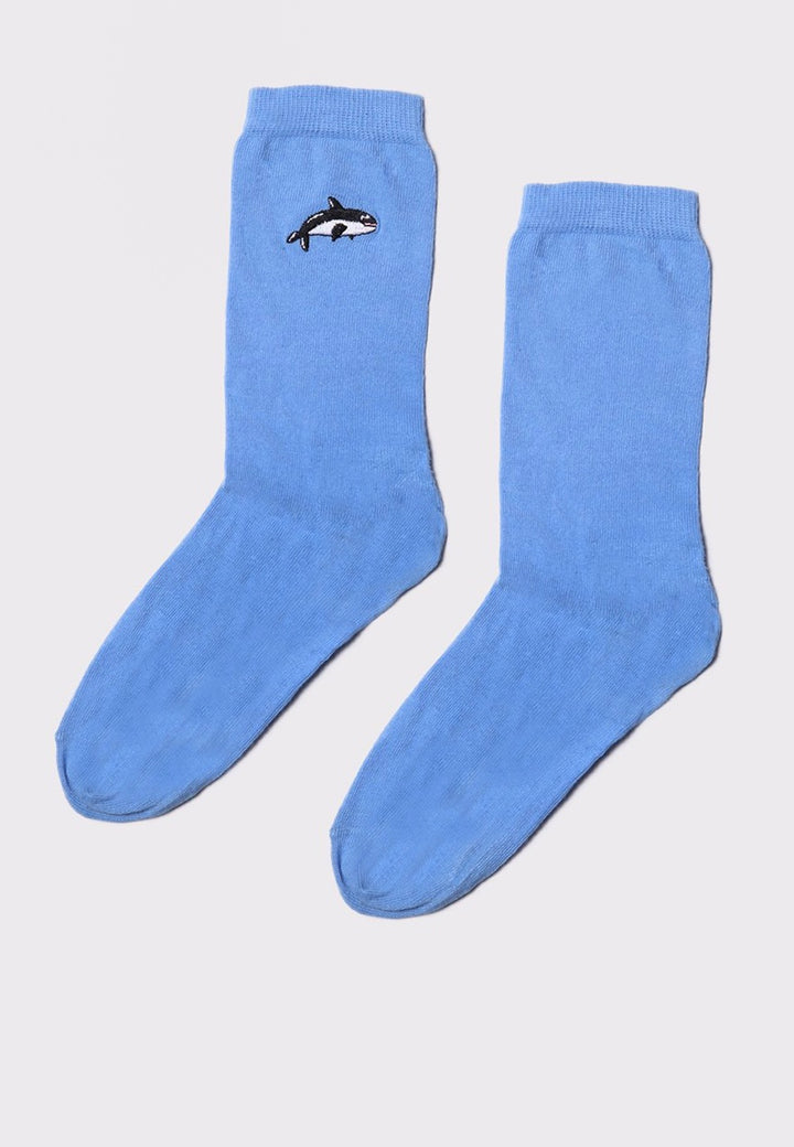 Lazy Oaf Killer Whale Socks - blue - Good As Gold