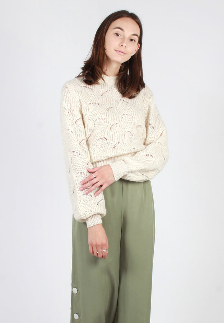 Laura Knit Sweater - vanilla