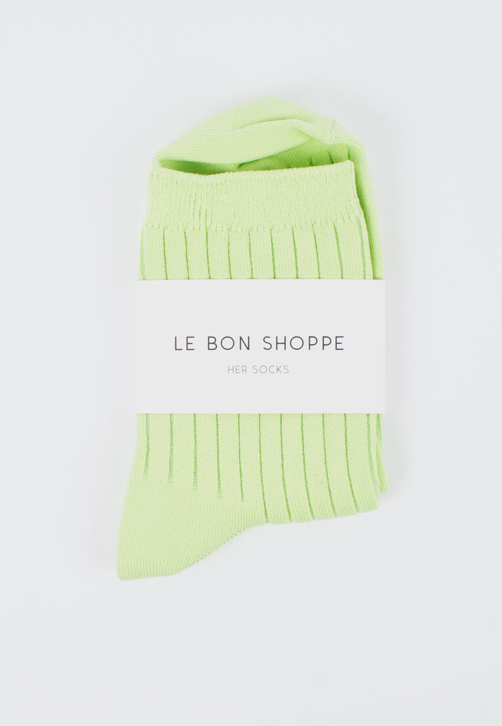 Le Bon Shoppe | Her Socks Solid - Lime | Good As Gold, NZ