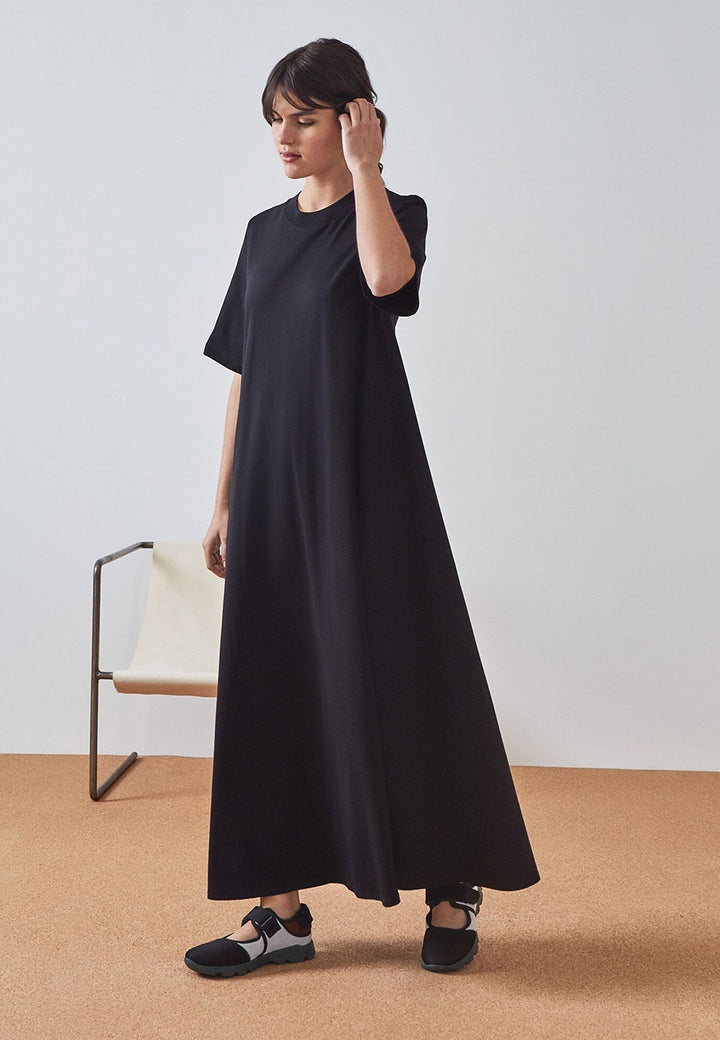 Kowtow Building Block T-Shirt Swing Dress - black - Good As Gold