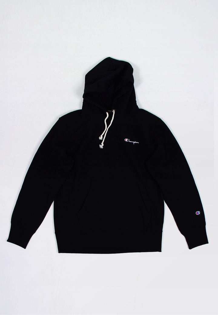 Champion Europe Small Script Reverse Weave Hoodie - black - Good As Gold