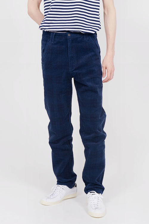 Lazy Oaf Cord Check Pants - blue — Good as Gold