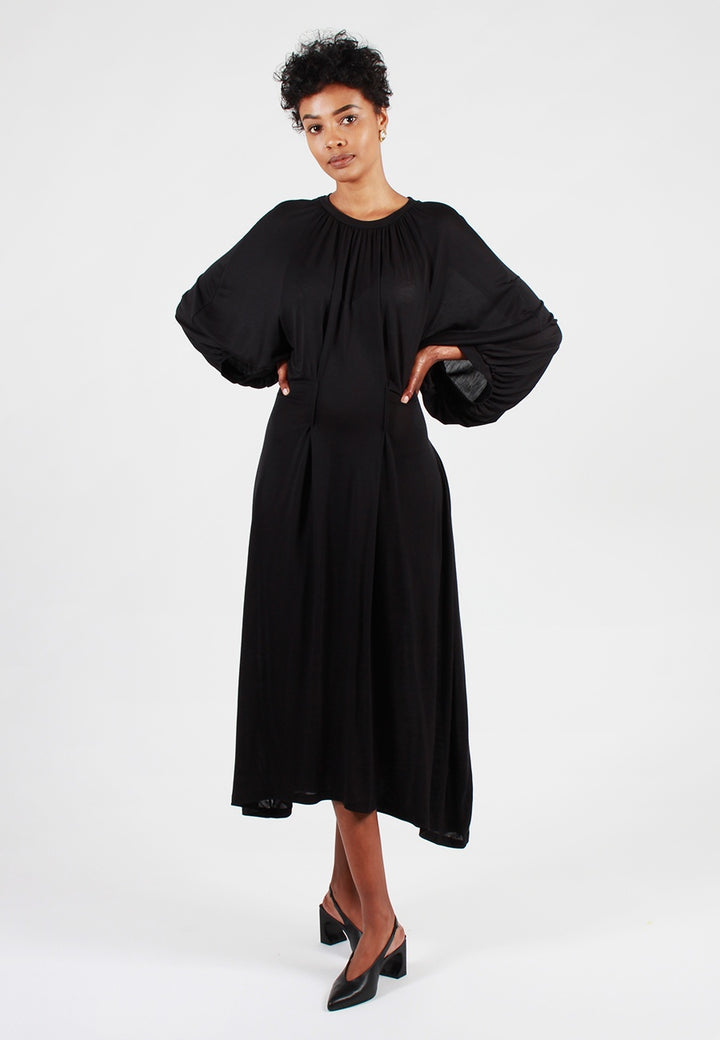 Henrik Vibskov Exhale Jersey Dress - black - Good As Gold