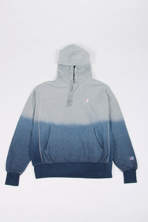 Champion Dip Dye Reverse Weave Hoodie - imperial indigo/oxford grey | GOOD AS GOLD | NZ